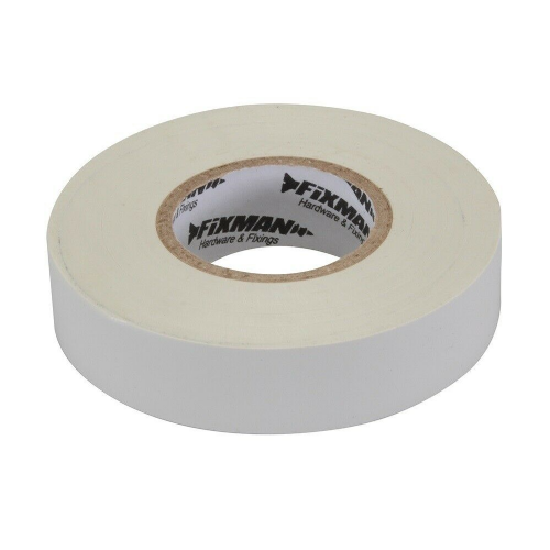 Fixman 189311 Electrical Insulation Tape 19mm x 33m White